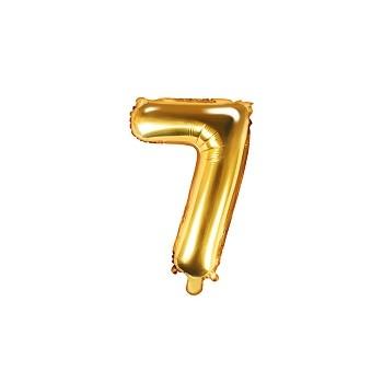 """Balon foliowy złoty 35cm cyfra """"7"""""""