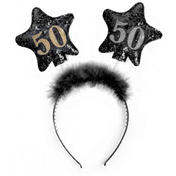 Opaska gwiazdki 50 urodziny