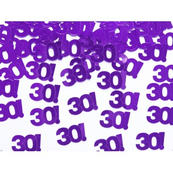 Konfetti metalizowane liczba 30 - 15g