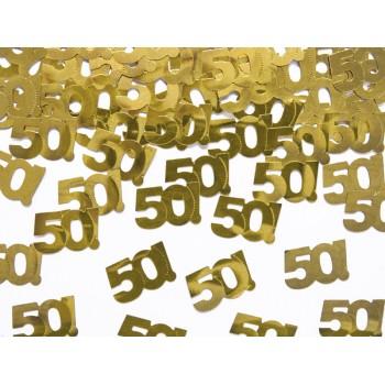 Konfetti metalizowane liczba 50 - 15g