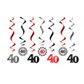 Świderki 40 urodziny - 60cm