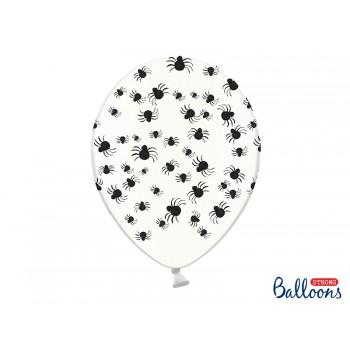 Balony Pająki Crystal Clear 30cm - 6szt
