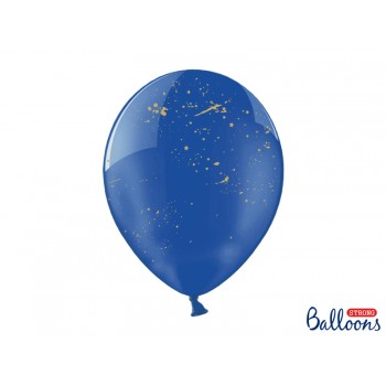 Balony Plamki Crystal Blue 30cm - 6szt