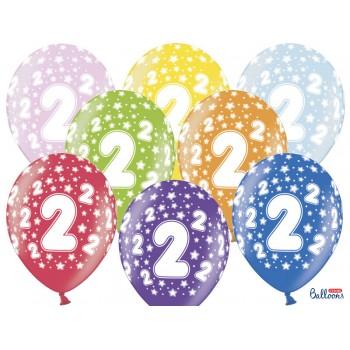 Balony 2 urodziny 30cm - 6szt