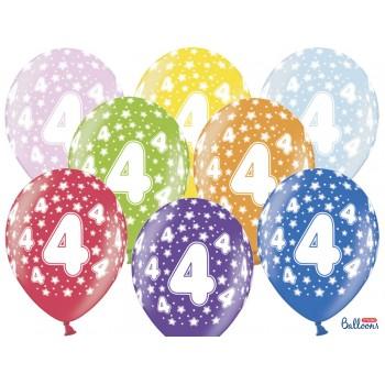 Balony 4 urodziny 30cm - 6szt