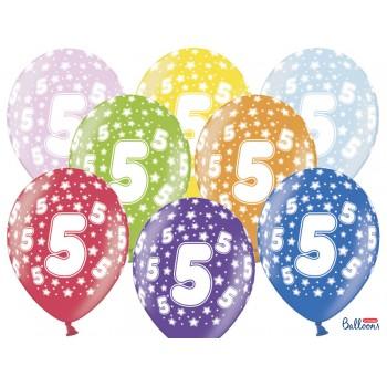 Balony 5 urodziny 30cm - 6szt