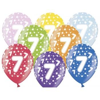 Balony 7 urodziny 30cm - 6szt
