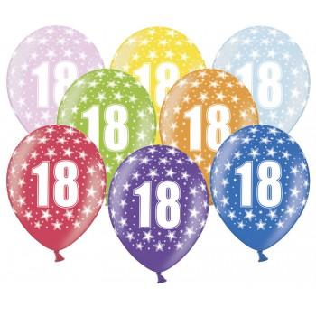 Balony 18 urodziny 30cm - 6szt