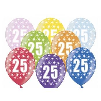 Balony 25 urodziny 30cm - 6szt