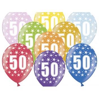 Balony 50 urodziny 30cm - 6szt