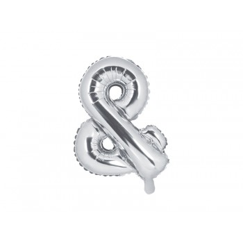 Balon foliowy srebrny 35cm &
