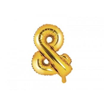 Balon foliowy złoty 35cm &