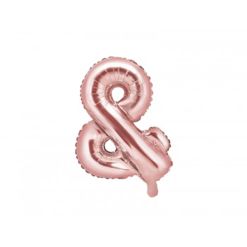 Balon foliowy różowe złoto 35cm &