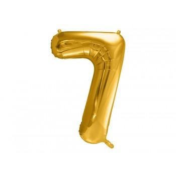 """Balon foliowy metalizowany złoty 86cm cyfra """"7"""""""