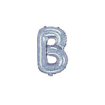 """Balon foliowy holograficzny 35cm litera """"B"""""""