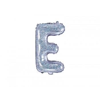 "Balon foliowy holograficzny 35cm litera ""E"""