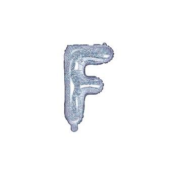 """Balon foliowy holograficzny 35cm litera """"F"""""""