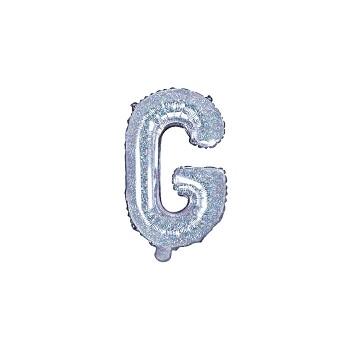 "Balon foliowy holograficzny 35cm litera ""G"""