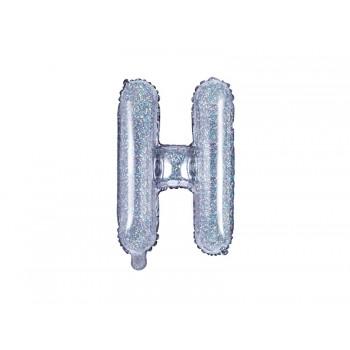 "Balon foliowy holograficzny 35cm litera ""H"""