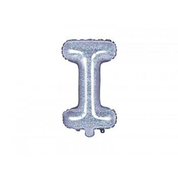 "Balon foliowy holograficzny 35cm litera ""I"""