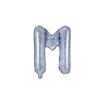 """Balon foliowy holograficzny 35cm litera """"M"""""""