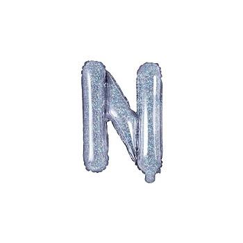 """Balon foliowy holograficzny 35cm litera """"N"""""""