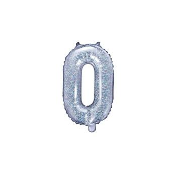 """Balon foliowy holograficzny 35cm litera """"O"""""""