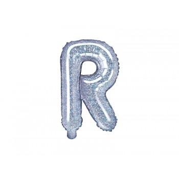 """Balon foliowy holograficzny 35cm litera """"R"""""""