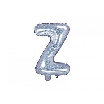 """Balon foliowy holograficzny 35cm litera """"Z"""""""