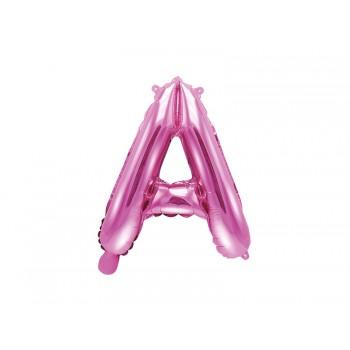 """Balon foliowy ciemny różowy 35cm litera """"A"""""""