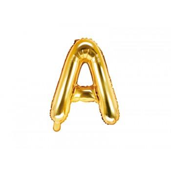 """Balon foliowy złoty 35cm litera """"A"""""""