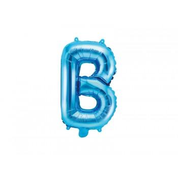 """Balon foliowy niebieski 35cm litera """"B"""""""