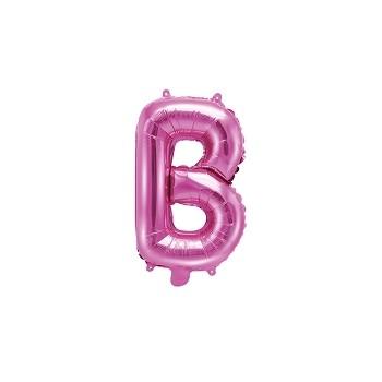 """Balon foliowy ciemny różowy 35cm litera """"B"""""""