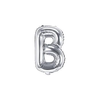 "Balon foliowy srebrny 35cm litera ""B"""