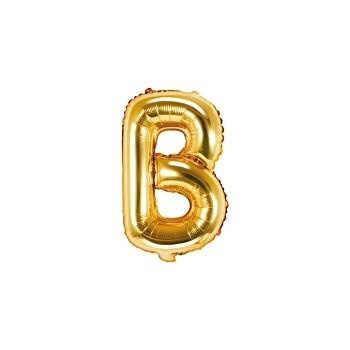 """Balon foliowy złoty 35cm litera """"B"""""""