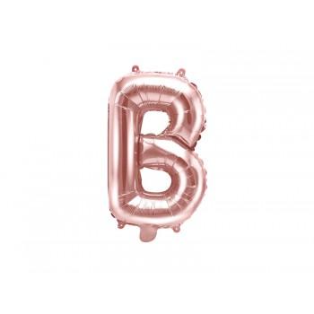 """Balon foliowy różowe złoto 35cm litera """"B"""""""