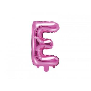 """Balon foliowy ciemny różowy 35cm litera """"E"""""""